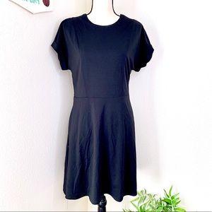 Banana Republic black midi dress